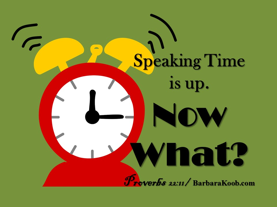 SpeakingTimeIsUp.NowWhat